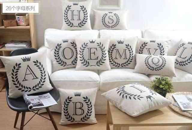 decorar cojines con letras