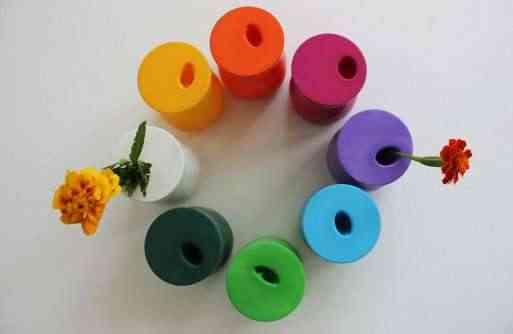 floreros con globos
