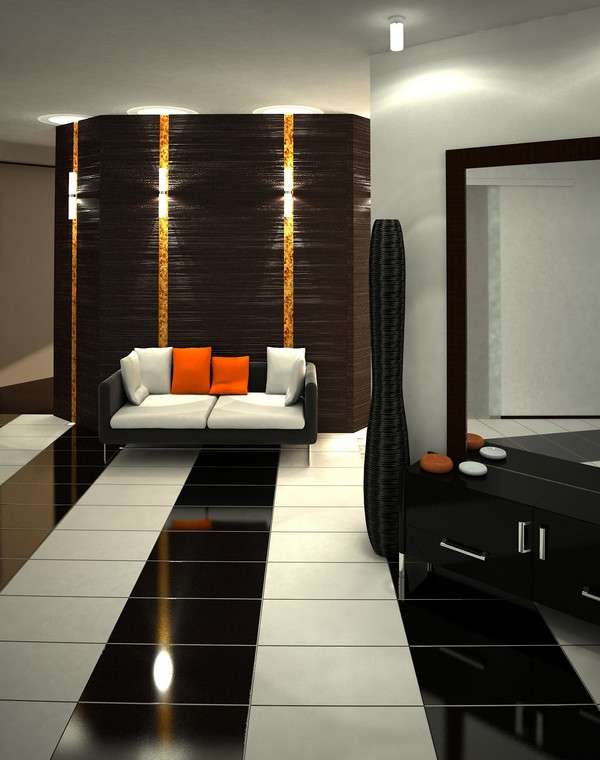 luxury apartment hall
