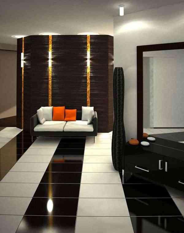 hall apartamento de lujo