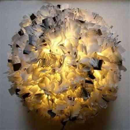 lampara de bolsas - reciclaje