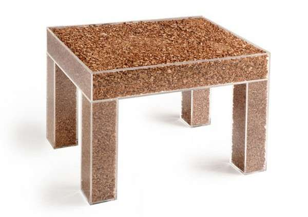 mesa transpartente de tierra