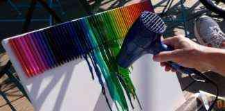 crayolas secador
