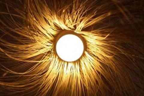 Lámparas decorativas de bambú