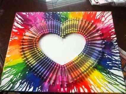 obra de arte con crayolas