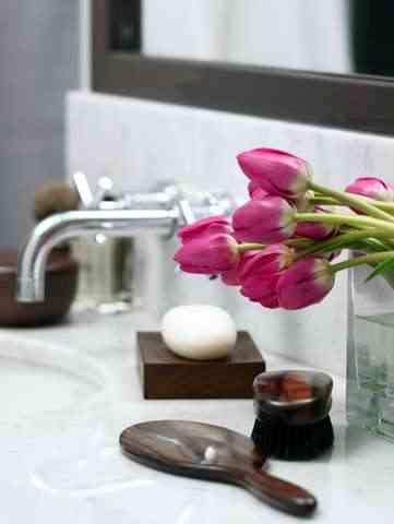 Tulipanes para añadir un toque a tu baño