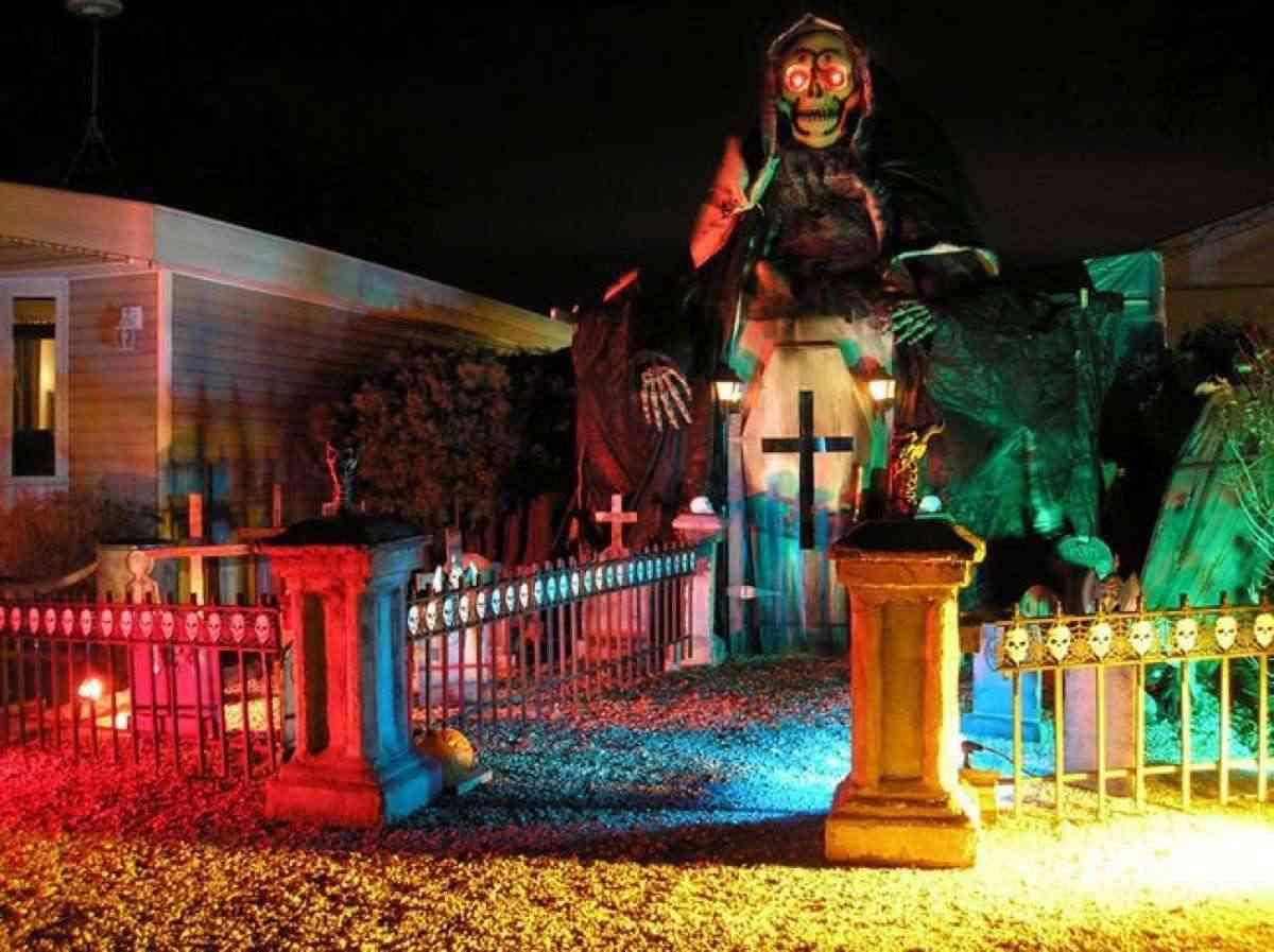 casas decoradas para Halloween
