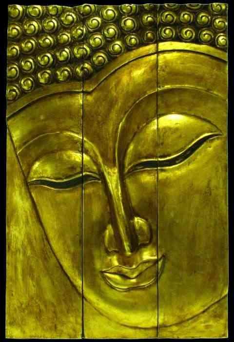 Panel cuadro Buda color oro