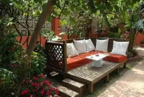 Rincón chill out en tu jardín