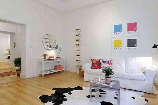 Estilo escandinavo. apartamentos pequeños