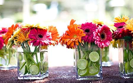 adornos florales para mesas