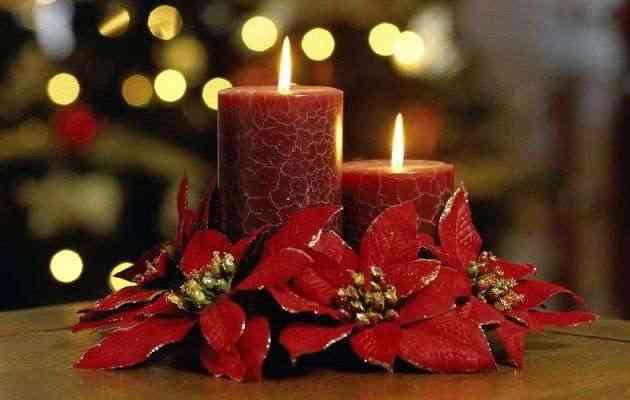 Navidad Arreglos Con Velas - Velas-de-navidad