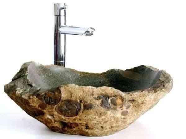 tanto la arena el cristal o la piedra pueden formar parte de las estancias aportando un resultado sumamente atractivo estos originales lavabos realizados - Lavabos Originales
