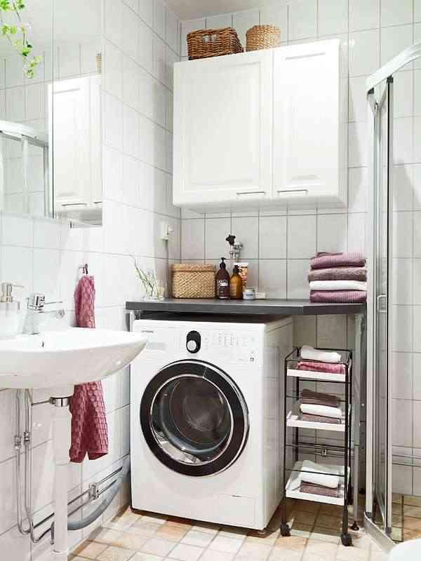 instalar la lavadora en el baño