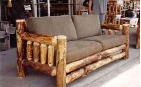 Muebles r sticos for Sillones rusticos para living
