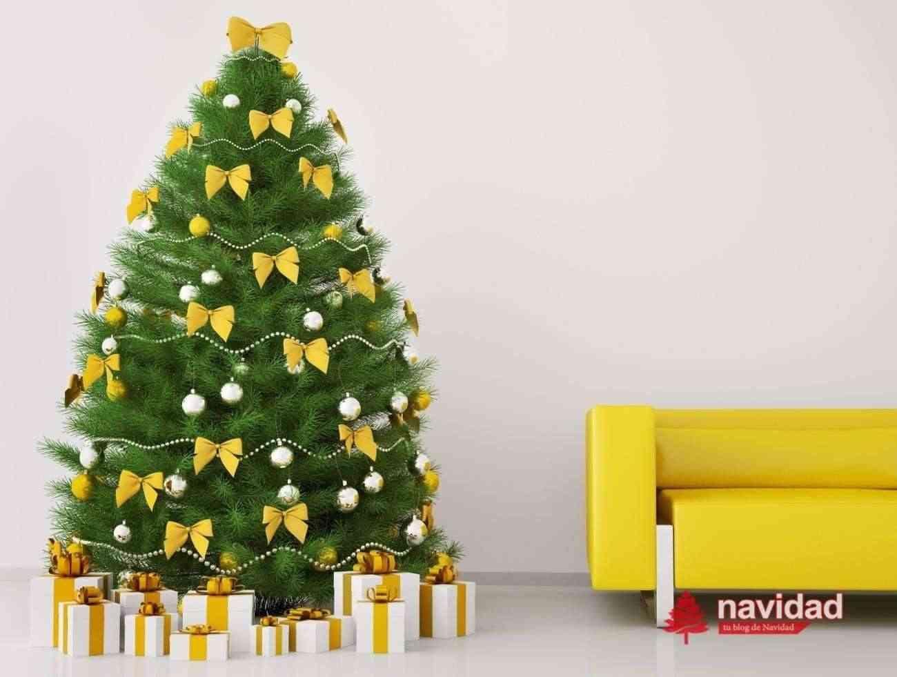 NAVIDAD - arbol de navidad amarillo - dp