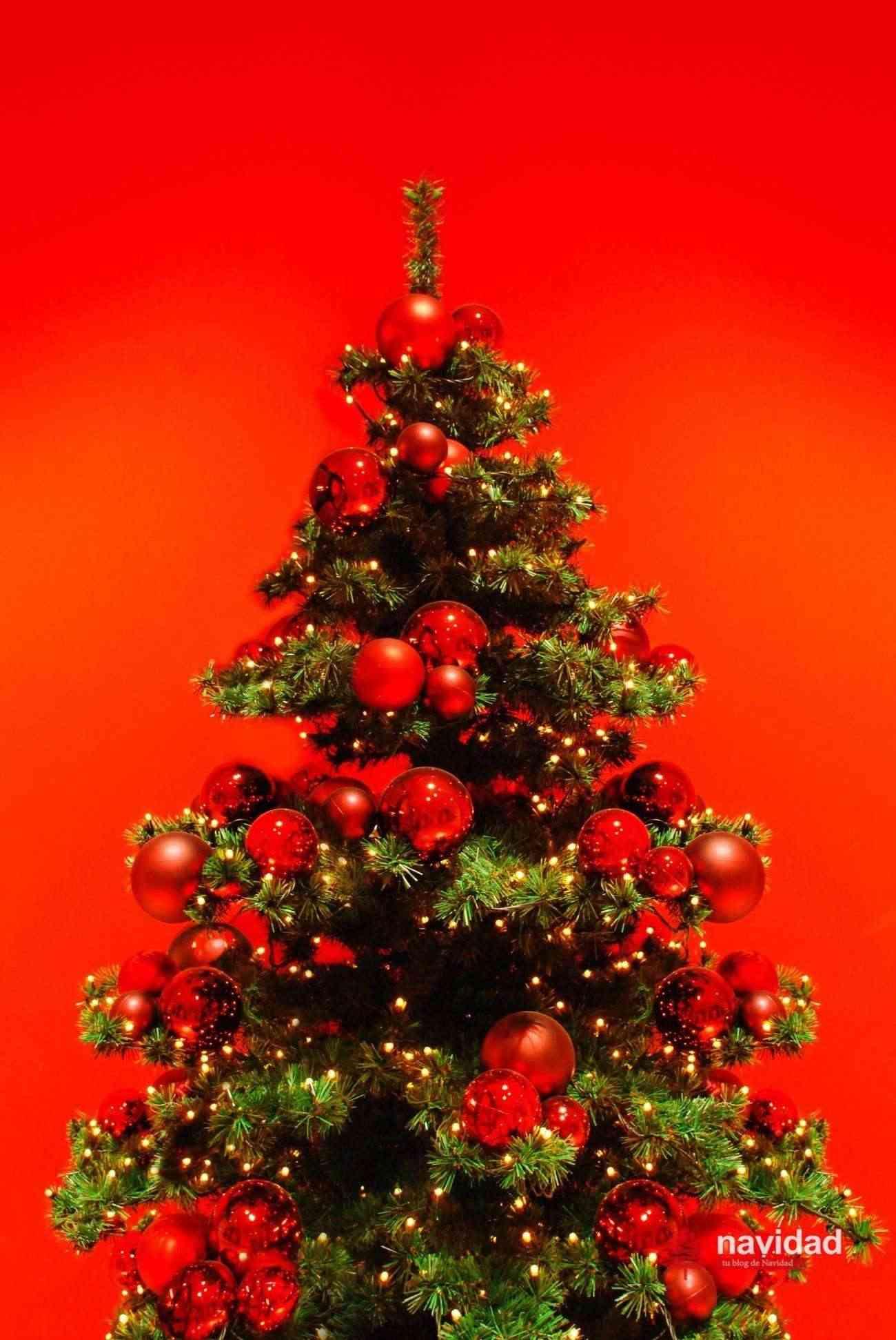 NAVIDAD - arbol de navidad rojo - dp