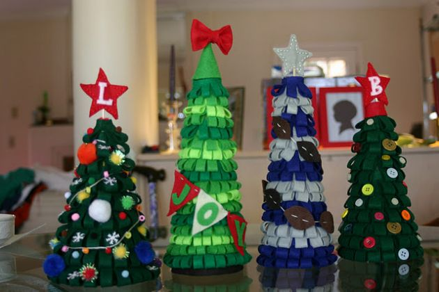 Navidad. Árboles de Fieltro