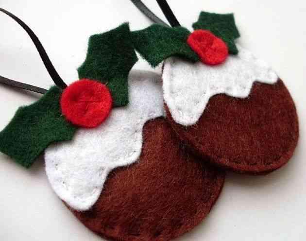 Patrones navide os para tus manualidades de fieltro - Manualidades en fieltro para navidad ...