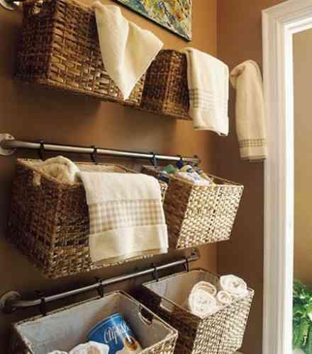 cestas en el baño
