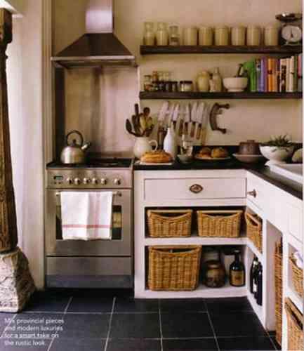 Dos ideas para decorar y organizar con cestas - Cestas extraibles para armarios ...
