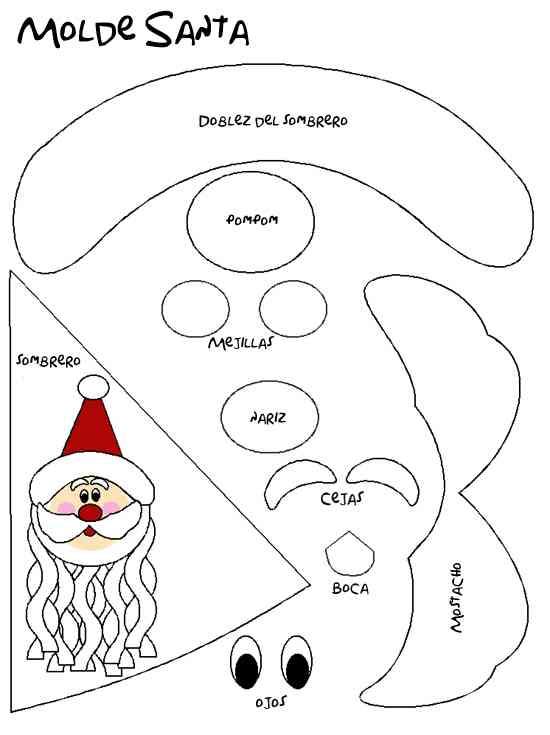 Patrones para hacer santa patrones-para-hacer-santa. | navidad.