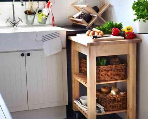 Mesas auxiliares para la cocina for Mesa auxiliar de cocina