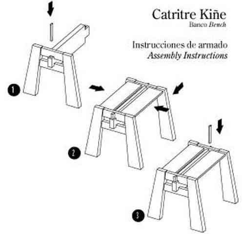 dibujo de armado de mueble