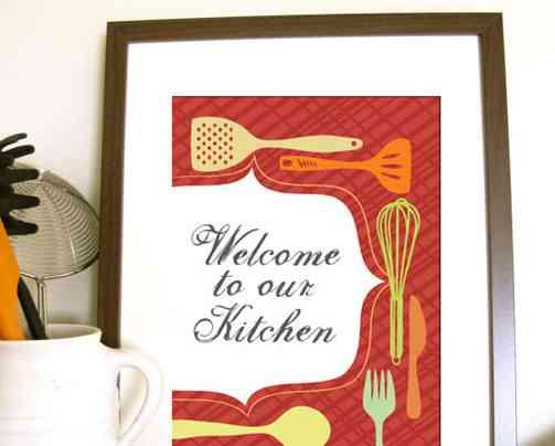 cuadros en la cocina - bienvenida