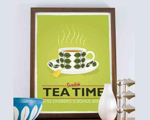 cuadros para la cocina - hora del te