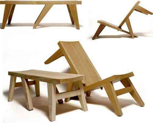 Muebles con doble funci n for Silla que se convierte en mesa