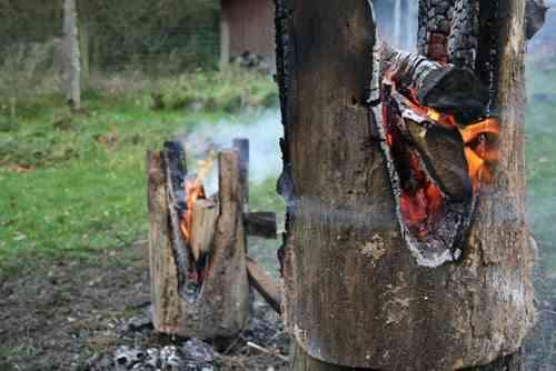 taburete quemado