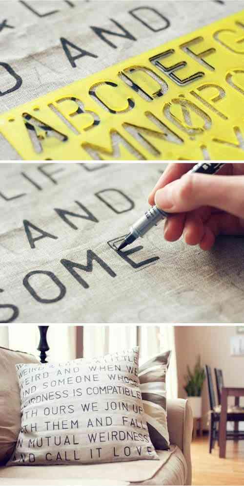 cojin a medida con letras