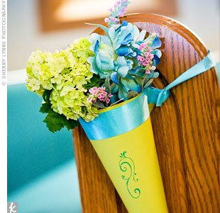 Decorate your chairs with flowers