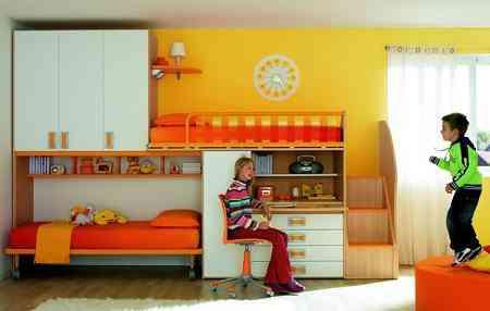 Decoraci n habitaci n infantil - Camas dobles infantiles para espacios reducidos ...