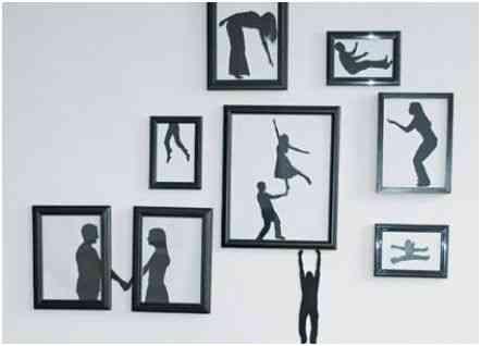 marcos con siluetas