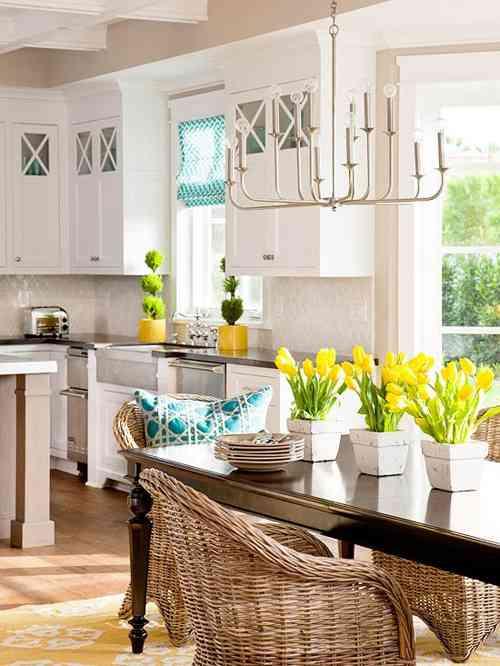 Una idea para añadir encanto y estilo a una cocina con comedor