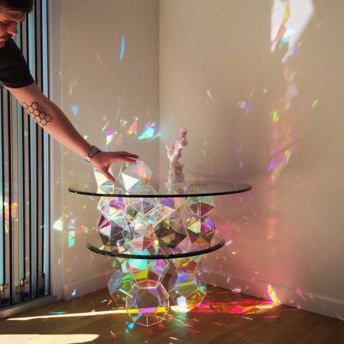 mesas de cristal de john foster