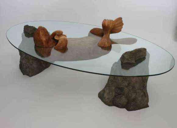 Mesas de cristal mesas de agua Derek Pearce