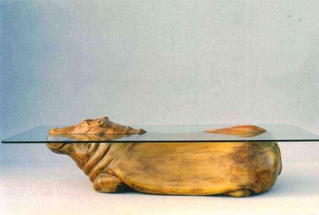 Mesas de cristal mesas de hipopotamos