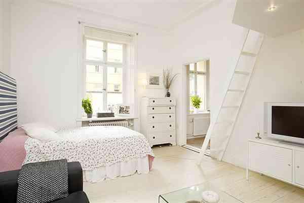 habitación en blanco - apartamento pequeño