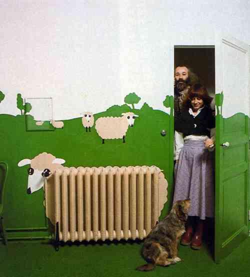radiador pintado de oveja