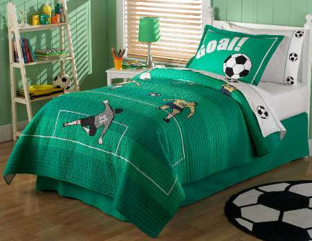 dormitorio fútbol infantil