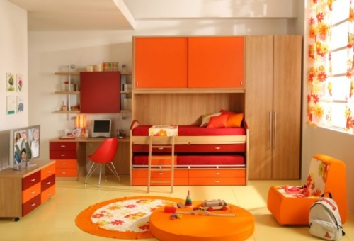 decorar_dormitorio_con_color_naranja