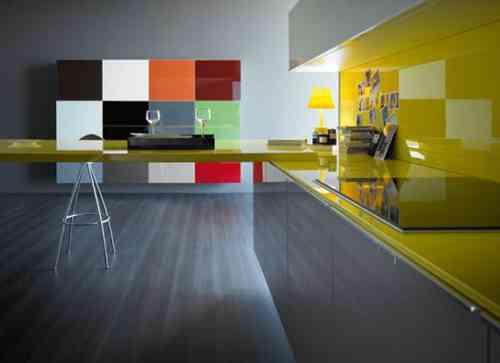 decoracion de cocina multicolor