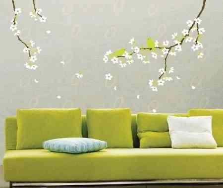 Decorar las paredes con flores - Decoracion en paredes para ninos ...