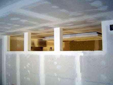 Rematando las paredes de yeso