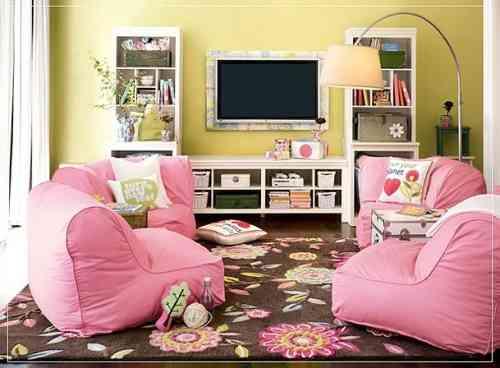 sala de estar para niñas