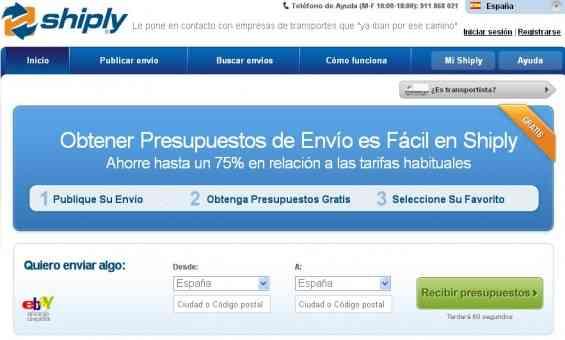 shiply portal para buscar empresa transportista