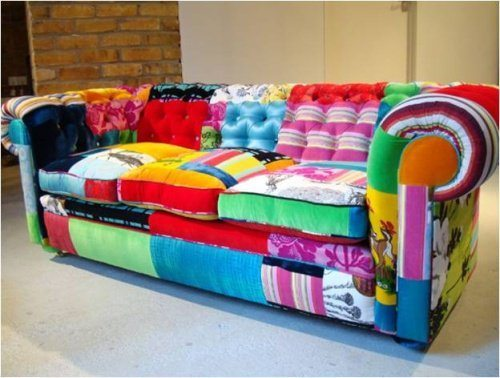 sofa de patchwork